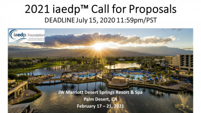 2021 iaedp™ Call for Proposals